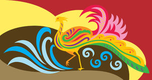Phoenix decorative. An abstract of a decorative phoenix vector illustration