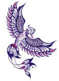 Phoenix. Decorative tattoo phoenix on white Royalty Free Stock Image