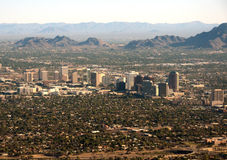 Phoenix, distrito financeiro de AZ imagem de stock
