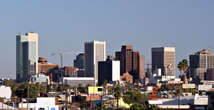 Phoenix Downtown Roofs, AZ Royalty Free Stock Photos