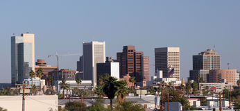 Phoenix Downtown Roofs, AZ Royalty Free Stock Images
