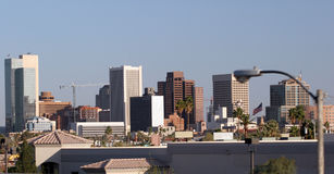 Phoenix Downtown Roofs, AZ Stock Photos
