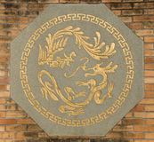 Phoenix and dragon. Symbol of phoenix and dragon Stock Photography