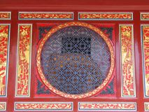 Phoenix & Dragon. Mixed in a temple's decoration in Quanzhou, China Royalty Free Stock Photo