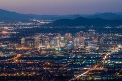 Phoenix du centre la nuit Images libres de droits