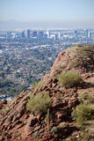 Phoenix du centre : vue de montagne de Camelback Images stock