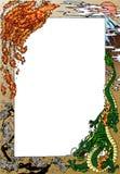 Phoenix e drago contro Fujiyama Fotografia Stock