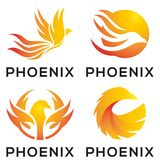 Phoenix Eagle Mascot Logo Design vector illustration