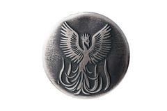 Phoenix, ein Symbol der Wiedergeburt, gibt Gesundheit, Wohlstand, Schönheit Lizenzfreie Stockfotos