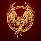 Phoenix emblem i cirkel Arkivfoton
