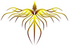 Phoenix estilizado Fotografia de Stock