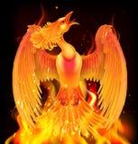Phoenix fågelresning från aska stock illustrationer