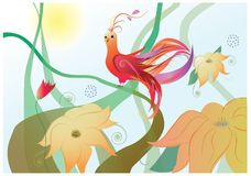 Phoenix fantasy bird. Illustration Stock Images