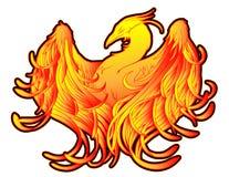 Phoenix-Feuer-Tätowierung Stockfoto