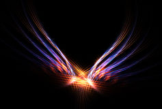 Phoenix Fire Bird. This Phoenix Fire Bird abstract fractal image is in vibrant colours over black background Royalty Free Stock Photo