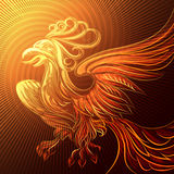 Phoenix in a flame Royalty Free Stock Photos