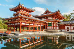 The Phoenix Hall of Byodo-in Temple in Kyoto Royalty Free Stock Photography