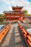 The Phoenix Hall of Byodo-in Temple in Kyoto Royalty Free Stock Photos