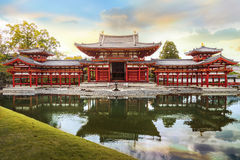 The Phoenix Hall of Byodo-in Temple in Kyoto Stock Photos