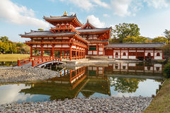 The Phoenix Hall of Byodo-in Temple in Kyoto Stock Images