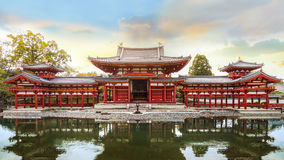 The Phoenix Hall of Byodo-in Temple in Kyoto Royalty Free Stock Images