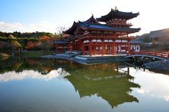 Phoenix Hall of Byodo-in Temple in Uji city royalty free stock photography
