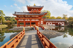 Phoenix hall at Byodoin Temple in Kyoto Stock Photos