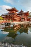 Phoenix Hall de Byodo-dans temple à Kyoto Images libres de droits