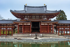 The Phoenix Hall reflect on water, Byodo-in Temple in Kyoto, Jap Royalty Free Stock Photos