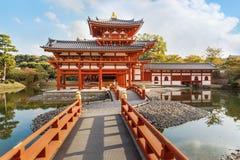 Phoenix-Halle an Byodoin-Tempel in Kyoto Stockfotos