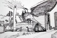 Phoenix i Bogota vektor illustrationer