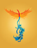 Phoenix Illustration. A colorful illustration of a rising phoenix Stock Image