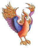Phoenix Illustration. Illustration Of A Simurg Bird Stock Image