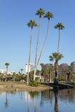 Phoenix im Stadtzentrum gelegen, wie vom Encanto Park See, AZ gesehen Stockfotografie