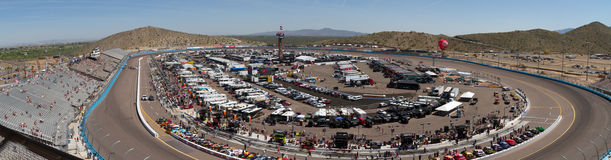Phoenix internationell kapplöpningsbana i Avondale, Arizona Royaltyfri Bild