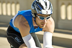 Phoenix Ironman Triathlon. Competitor Jonathan Caron in the cycling stage of the April 2008 Ironman Triathlon in Tempe Arizona Royalty Free Stock Images