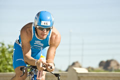 Phoenix Ironman Triathlon. Competitor Swen Sundberg in the cycling stage of the April 2008 Ironman Triathlon in Tempe Arizona Stock Image
