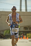 Phoenix Ironman Triathlon. Competitor Eric Smith in the running stage of the April 2008 Ironman Triathlon in Tempe Arizona Stock Photography