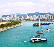 Phoenix Island Harbour of Sanya Royalty Free Stock Photography