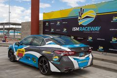 ISM Raceway - Phoenix Nascar and IndyCar. Phoenix ISM Raceway offered a sneak preview of it`s ongoing 178 million dollar upgrade project during Goodyear Monster stock images