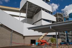 ISM Raceway - Phoenix Nascar and IndyCar. Phoenix ISM Raceway offered a sneak preview of it`s ongoing 178 million dollar upgrade project during Goodyear Monster stock image
