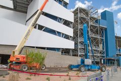 ISM Raceway - Phoenix Nascar and IndyCar. Phoenix ISM Raceway offered a sneak preview of it`s ongoing 178 million dollar upgrade project during Goodyear Monster royalty free stock photos