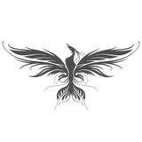 Phoenix kontur royaltyfri illustrationer