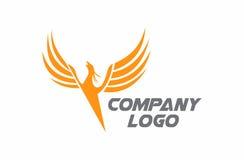Phoenix latający logo ilustracja wektor