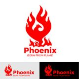 Phoenix logo creative logo of mythological bird Fenix, a unique bird  Stock Images