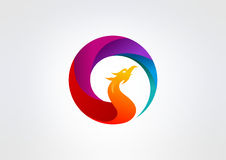 Phoenix  logo design Stock Photo