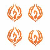 Phoenix logo. Phoenix design logo vector eps 10 Royalty Free Stock Images