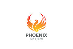 Phoenix Logo flying bird design vector. Phoenix Logo flying bird abstract design vector template. Eagle falcon soaring Logotype concept icon Stock Photo