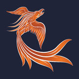 Phoenix logo vector icon. Design Royalty Free Stock Image