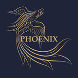 Phoenix logo vector icon. Design Royalty Free Stock Images